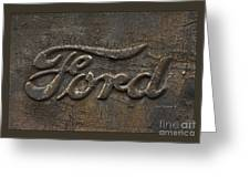 Ford Tough Antique Truck Logo Greeting Card