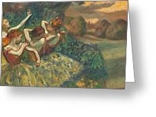 Four Dancers Greeting Card