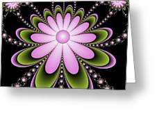 Fractal Floral Decorations Greeting Card