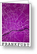 Frankfurt Street Map - Frankfurt Germany Road Map Art On Colored Greeting Card