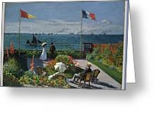 Garden At Sainte-adresse Greeting Card
