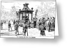 Garfield Funeral, 1881 Greeting Card