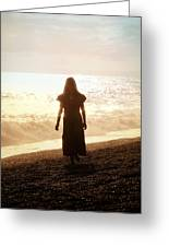 Girl On Beach Greeting Card