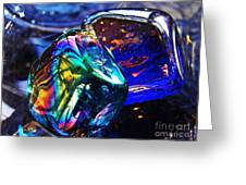 Glass Abstract 682 Greeting Card