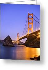 Golden Gate Bridge Greeting Card by Emmanuel Panagiotakis