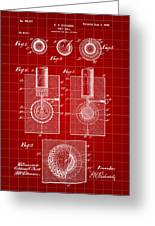 Golf Ball Patent 1902 - Red Greeting Card