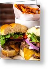 Gourmet Pub Hamburger Greeting Card