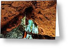 Green Grotto Caves Greeting Card
