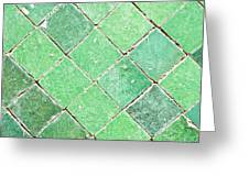 Green Tiles Greeting Card