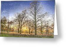 Greenwich Park London Art Greeting Card