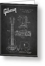 Hart Gibson Electrical Musical Instrument Patent Drawing From 19 Greeting Card