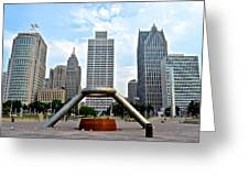 Hart Plaza Detroit Greeting Card
