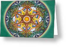 Heaven And Earth Mandala Greeting Card