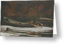 Hound And Hunter Greeting Card by Winslow Homer