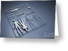 Human Cloning Greeting Card