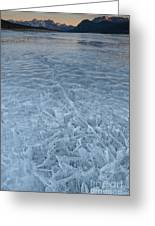 Ice On Abraham Lake Greeting Card