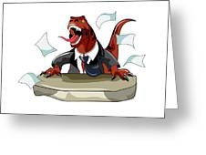 Illustration Of A Tyrannosaurus Rex Greeting Card