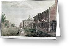 Independence Hall, 1798 Greeting Card