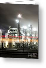 Industrial Smokestacks Of Central California Greeting Card