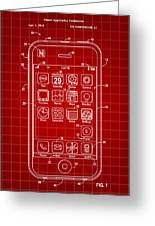 iPhone Patent - Red Greeting Card