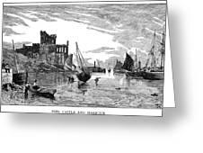 Isle Of Man Peel, 1885 Greeting Card