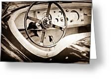 Jaguar Steering Wheel Greeting Card