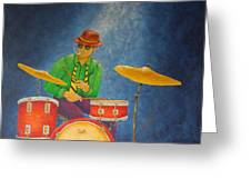 Jazz Drummer Greeting Card