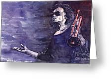 Jazz Miles Davis Greeting Card