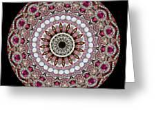 Kaleidoscope Colorful Jeweled Rhinestones Greeting Card