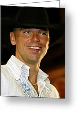 Kenny Chesney Greeting Card by Don Olea