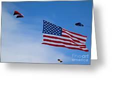 Kites On Ice Greeting Card
