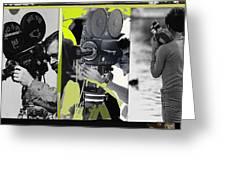 3 Kvoa Tv News Cinematographers Frank Sharkey Dave Sonderegger Jackie Sharkey Tucson Az Collage 2011 Greeting Card