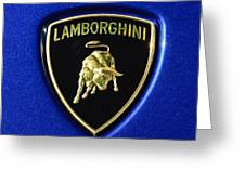 Lamborghini Emblem Greeting Card