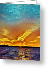 3 Layer Sunset Greeting Card