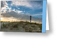 Sc Lighthouse View Greeting Card