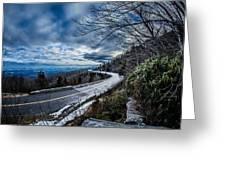 Linn Cove Viaduct During Winter Near Blowing Rock Nc Greeting Card