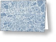 London England Street Map Greeting Card