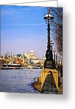 London View From South Bank Greeting Card