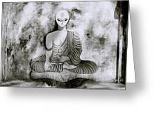 Lotus Position Greeting Card