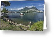 Lugano By Lago Di Lugano Greeting Card