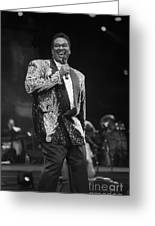 Singer Luther Vandross Greeting Card