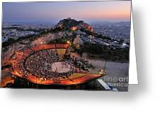 Lycabettus Hill Greeting Card
