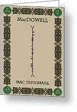 Macdowell Written In Ogham Greeting Card