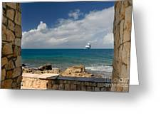 Majesty Of The Seas At Coco Cay Greeting Card