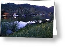 Malibu Lake Greeting Card
