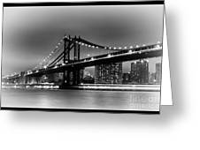 Manhattan Bridge New York City Greeting Card