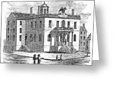 Massachusetts Salem, 1851 Greeting Card