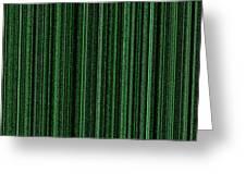 Matrix Green Greeting Card