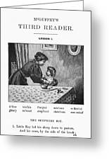 Mcguffey's Reader, 1879 Greeting Card
