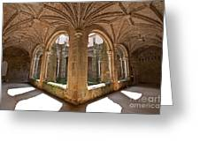 Medieval Monastery Cloister Greeting Card